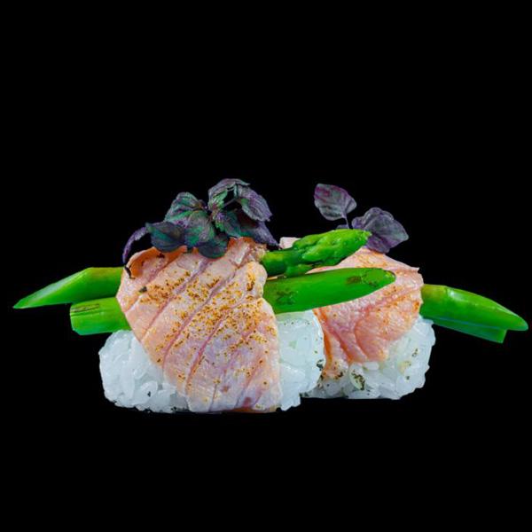 5 Salmon Aburi 2 Stk.